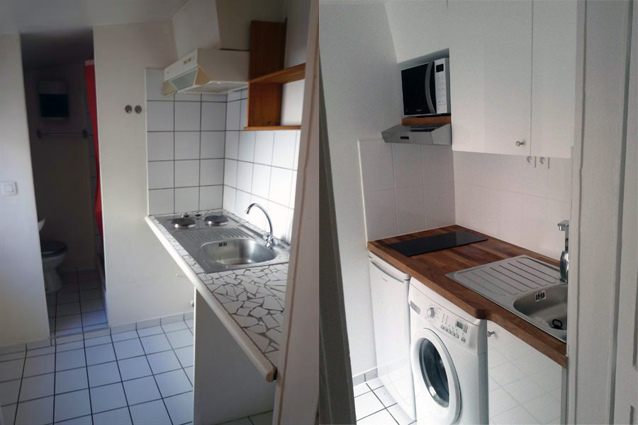 r3invest faubourg st denis studio 22m2. Black Bedroom Furniture Sets. Home Design Ideas